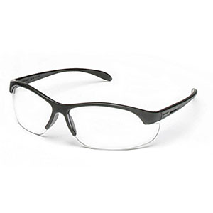 Honeywell HL200 Youth Shooter's Safety Eyewear, Black Frame, Clear Lens, Anti-Fog Lens Coating - R-01638