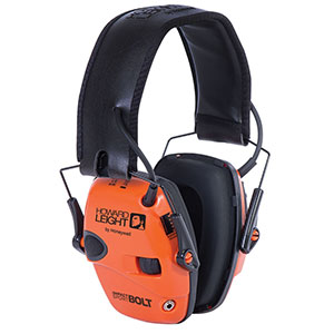 Honeywell Impact Sport Bolt Sound Amplification Electronic Earmuff, Color: Orange - R-02231
