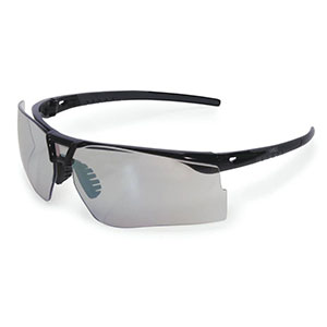 Honeywell Bayonet Shooter's Safety Eyewear, Black Frame, I/O Mirror Lens, Anti-Fog Lens Coating, Microfiber Bag - R-05040