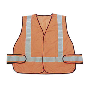 Honeywell High Visibility Orange Safety Vest with reflective stripes - RWS-50003