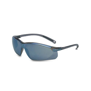 Honeywell A700 Safety Eyewear, Blue Frame, Blue Mirror Lens, Scratch-Resistant Hardcoat Lens Coating - RWS-51035