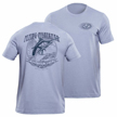 Flying Fisherman T1701BL Traditions Tee Heather Blue L
