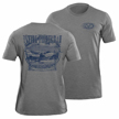 Flying Fisherman T1703GL Traveler Tee Heather Grey L