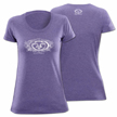 Flying Fisherman T1705PM Flower Logo Ladies Tee Purple M