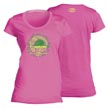 Flying Fisherman T1707PL Chalk Sail Ladies Tee Hot Pink L