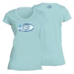 Flying Fisherman T1708CL Water Logo Ladies Tee Chill L