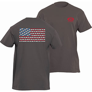 Flying Fisherman T1714HL Fish Flag Tee, Heavy Metal Short Sleeve T-Shirt - L