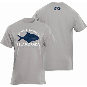 Flying Fisherman T1719GL Permit Tee, Heather Gray Short Sleeve T-Shirt - L