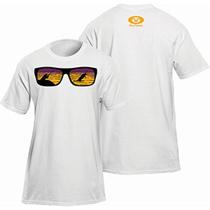 Flying Fisherman T1720WL Shades Tee, White Short Sleeve T-Shirt - L