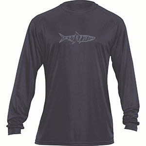 Flying Fisherman TL1402CL Tarpon Long Sleeved Performance Tee Charcoal L