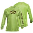 Flying Fisherman TL1404LL Camo Logo Performance Tee Lime L