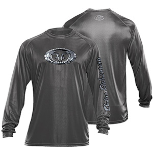 Flying Fisherman TL1406GL Fish Scales Performance Tee Graphite L
