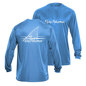 Flying Fisherman TL1407BL Redfish Long Sleeve Performance Tee Blue L