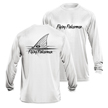 Flying Fisherman TL1407WL Redfish Long Sleeve Performance Tee White L