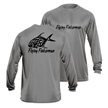 Flying Fisherman TL1408GL Permit Long Sleeve Performance Tee Gray L
