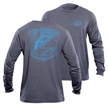 Flying Fisherman TL1701BL Traditions Long Sleeved Tee Heather Grey L