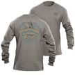 Flying Fisherman TL1710GL Shield Long Sleeve Tee Gray Triblend L