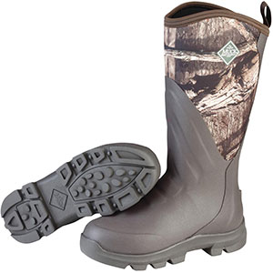 Muck Boots Woody Grit All Terrain Hunting Boot, Brown/Mossy Oak, WDC-INF