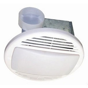 USI Electric Bath Exhaust Fan with Custom-Designed Motor and 26-Watt Fluorescent Light, 50 CFM (BF-504LF)