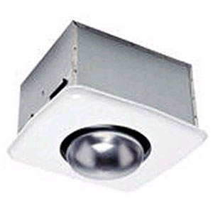 USI Electric Bath Exhaust Fan with Custom-Designed Motor and Heat Bulb Attachment, 70 CFM (BF-704HB)