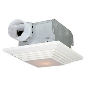 USI Electric Bath Exhaust Fan with Custom-Designed Motor and 100-Watt Lamp, 90 CFM (BF-904L)