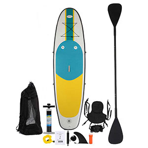 Blue Water Toys Inflatable Kayak & Stand Up Paddle Board, 10ft x 32in x 6in