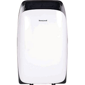 Honeywell HL14CESWK Portable Air Conditioner, 14,000 BTU Cooling, LED Display, Single Hose (White-Black)
