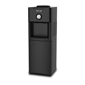 Honeywell Antibacterial Chemical-Free Technology 34-Inch Freestanding Water Cooler Dispenser, Black - HWBAP1062B