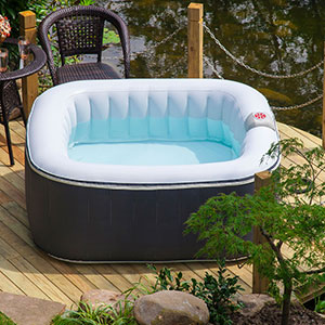Aqua Spa Deluxe 4-6 Person Portable Inflatable Spa by Blue Water Toys - ISPH050015