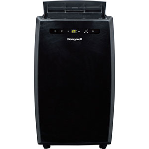 Honeywell MN12CESBB Portable Air Conditioner, 12,000 BTU Cooling, LED Display, Single Hose (All Black)