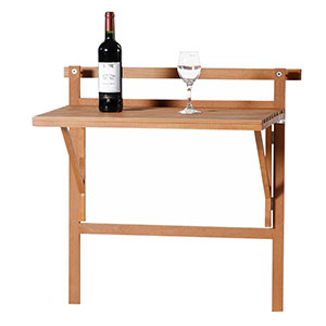 Patio Wise Condo & Balcony Folding Table Space Saver, Birch Wood - PWBT-023