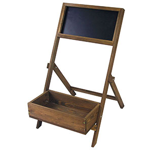 Patio Wise Folding Indoor/Outdoor Wooden Chalkboard Planter - PWCP-041