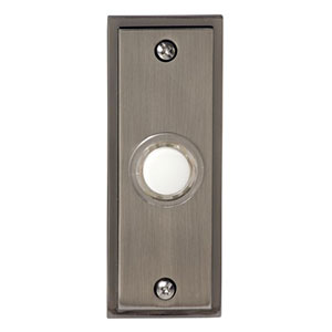 Honeywell RPW202A1009/A Wired Recessed Illuminated Push Button for Door Chime, Brushed Nickel Finish