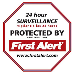 First Alert Security Yard Sign