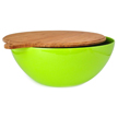 Yumi Nature+ Green Natural Bamboo Salad Bowl with Cover