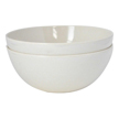 Yumi Nature+ White Natural Bamboo Salad, Pasta & Soup Bowls, Set of 2