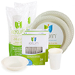 Yumi Eco Friendly Disposable Dinnerware Party Package For 48 Guests