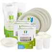 Yumi Eco Friendly Disposable Dinnerware Party Package For 96 Guests
