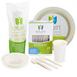 Yumi Eco Friendly Disposable Dinnerware Large Party Package (For 24 Guests)